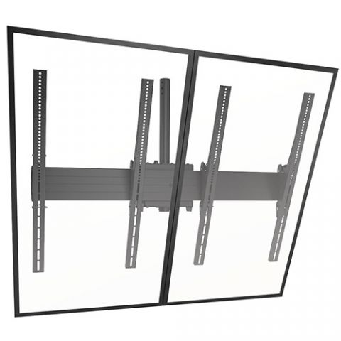 Chief FUSION'Ñ¢ Large Ceiling Mounted 2 x 1 Portrait Menu Board by Chief