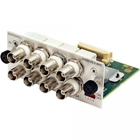 Marshall Electronics  ARDM-AES-BNC Input Module for AR-DM2-L Audio Monitor by Marshall Electronics