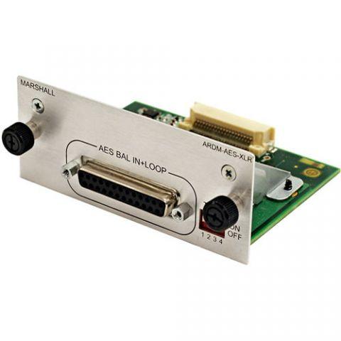 Marshall Electronics  ARDM-AES-XLR Input Module for AR-DM2-L Audio Monitor by Marshall Electronics