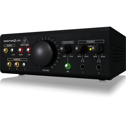 Behringer MONITOR2USB Speaker & Headphone Monitoring Controller with VCA & USB by Behringer