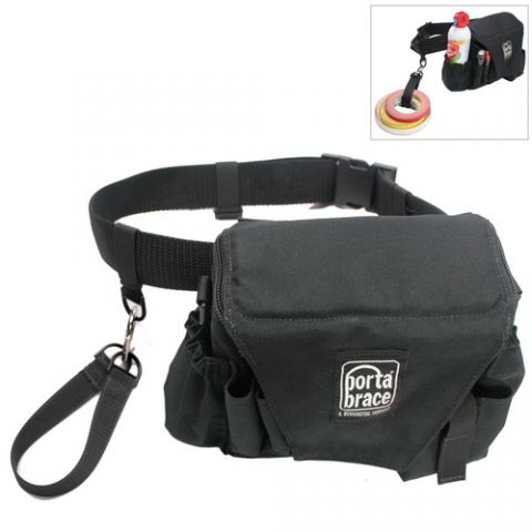 Porta Brace ACB-3B Assistant Camera Pouch with Belt (Large, Midnight Black) by Porta Brace