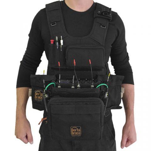 Porta Brace ATV-633 Audio Tactical Vest for Sound Devices 633 (Black) by Porta Brace