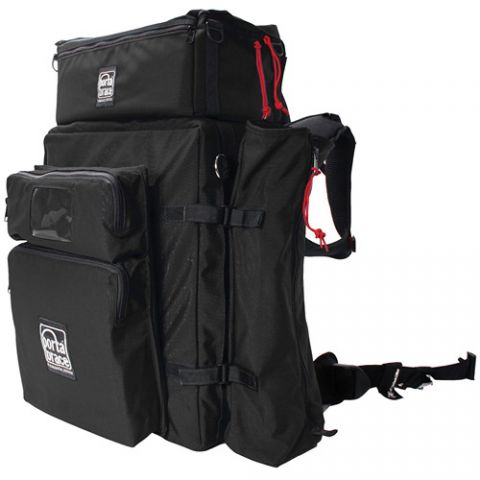 Porta Brace BK-3EXP Modular Backpack Extreme Version with All Modules (Black) by Porta Brace