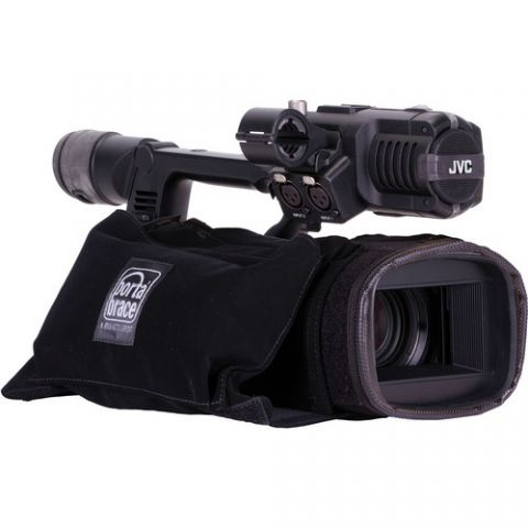 Porta Brace CBA-HM600B Custom-fit CameraBody Armor w/ Rain Protection for JVC GY-HM600 by Porta Brace