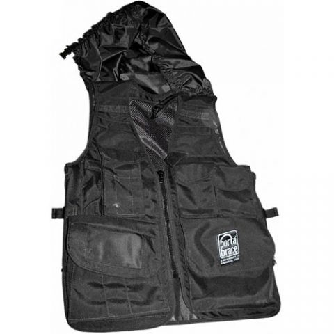 Porta Brace VV-XLBLH Video Vest with Hood (X-Large, Black) by Porta Brace