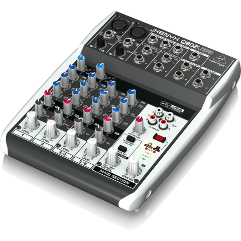 Behringe XENYX Q802USB Premium 8-Input 2-Bus Mixer by Behringer