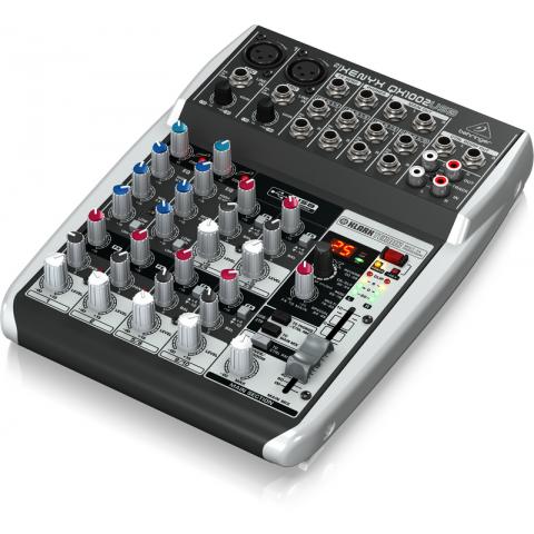 Behringe XENYX QX1002USB Premium 10-Input 2-Bus Mixer by Behringer