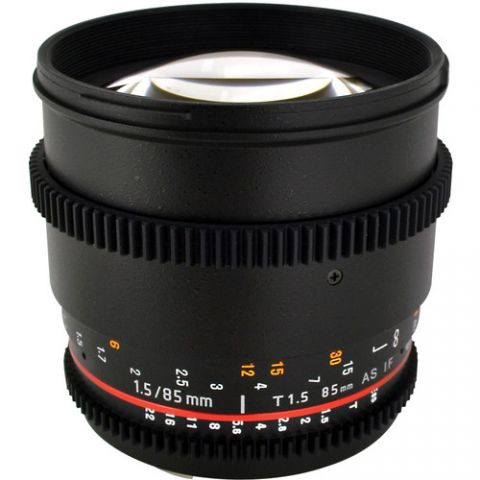 Rokinon 85mm T1.5 Cine AS IF UMC Lens for Micro Four Thirds by Rokinon