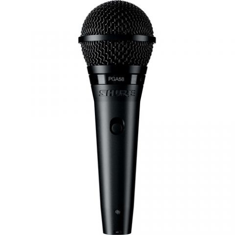 "Shure  PGA58-QTR Cardioid Dynamic Vocal Microphone with XLR-to-1/4"" Cable by Shure"