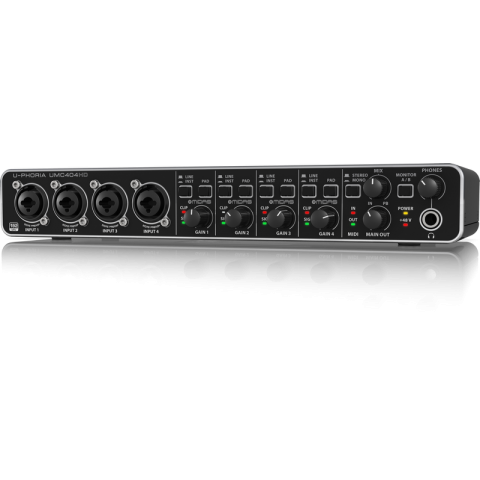 Behringer U-PHORIA UMC404HD - USB 2.0 Audio/MIDI Interface by Behringer