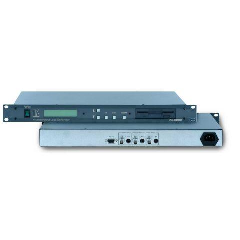 Kramer VA-2002 Video Logo Generator / Inserter - Composite (BNC), Y/C, RS-232, Rackmountable by Kramer
