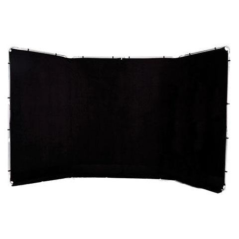 Lastolite Panoramic 4m (13') Background, Black - Fabric and Frame by Lastolite