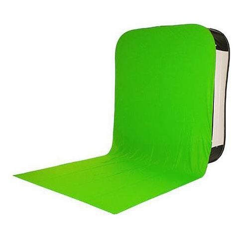 Lastolite 6x7' HiLite Bottletop Background Cover with Train, Green Chromakey by Lastolite