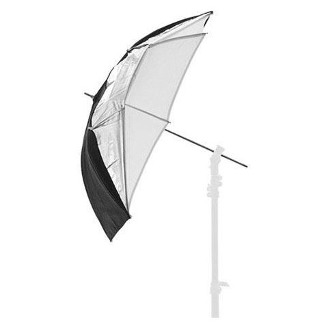 "Lastolite 37"" Compact Dual Fiberglass Umbrella with 8mm Shaft, Black/Silver/White by Lastolite"