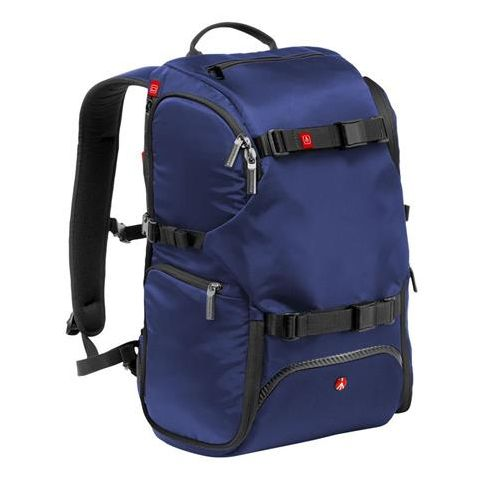 """Manfrotto Advanced Travel Backpack, 13"""" Laptop Compartment, External Tripod Connections, Blue by Manfrotto"""