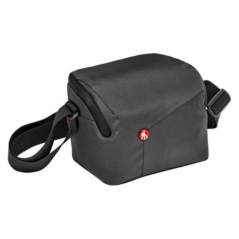 Manfrotto NX Shoulder Bag for CSC Mirrorless Camera with Additional Lens, Grey by Manfrotto