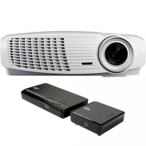 Optoma Technology HD25LV-WHD Full HD DLP Home Theater Projector and Wireless HDMI Bundle by N/A
