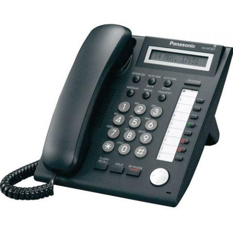 Panasonic KX-NT321-B Backlit Display VoIP Phone - Black by Panasonic
