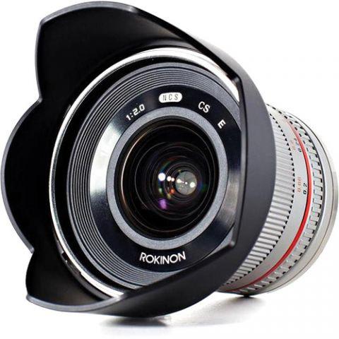 Rokinon 12mm f/2.0 NCS CS Lens for Fujifilm X Mount (Silver) by Rokinon