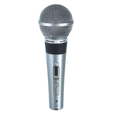 Shure 565SD-LC Cardioid Handheld Dynamic Microphone without Cable, Silent Magnetic Reed On/Off Switch by Shure