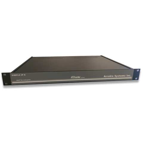Arrakis Systems Simple-IP AoIP node, 8in x 8out (mono) - 4in x 4out (stereo) by Arrakis Systems