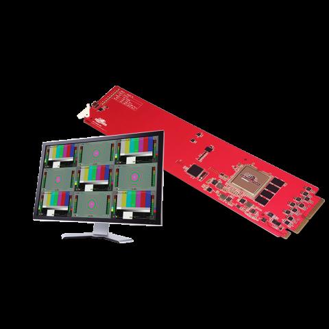 DECIMATOR MC-DMON-9S 1 to 9 Channel (3G/HD/SD)-SDI MultiViewer by Decimator