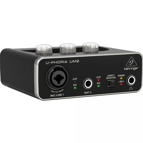 Behringer U-PHORIA UM2 2x2 USB Audio Interface by Behringer