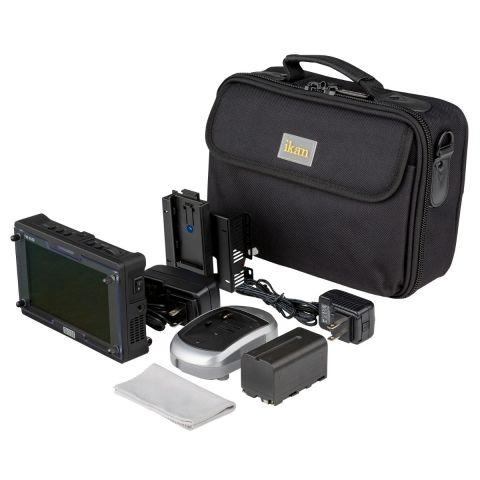 Bon FM-055F-DK FM-055F 3G-SDI/HDMI Full HD On-Camera Monitor Deluxe Kit by BON