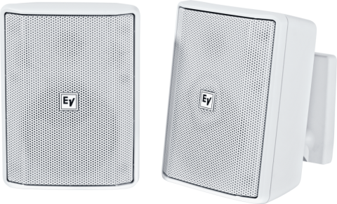 """Electro-Voice EVID-S4.2TW Quick Install Speaker 4"""" Cabinet 70/100V (Pair, White) by Electro-Voice"""