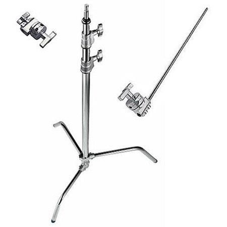 """Avenger 10.76' C-Stand 33 Kit with Sliding Leg, 40"""" Extension Arm / 2.5"""" Grip Head 3 Sections, 2 Risers, Chrome by Avenger"""