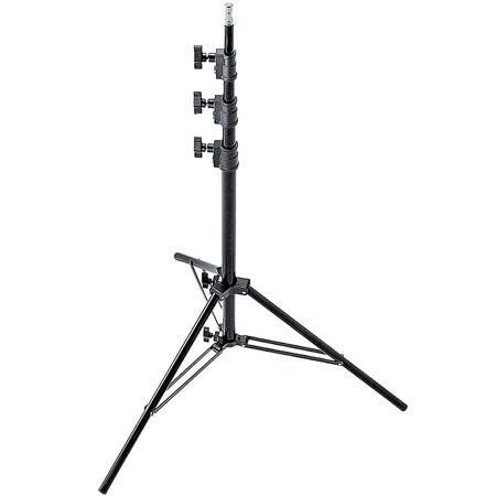 """Avenger 10'8"""" Black Anodized Aluminum Midi-Max Kit Lightstand, with 4 Risers / 5/8"""" Mounting Stud. by Avenger"""
