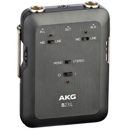 AKG Acoustics B23L Phantom Power Supply and 2 Channel Mini Recording Mixer, 20Hz-20kHz Frequency Response, 5kOhms Input Impedance by AKG