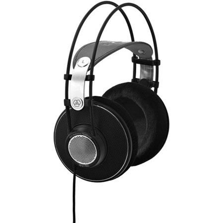 """AKG Acoustics K612 Pro Reference Studio Headphones, Patented Varimotion Diaphragm, 12-39500 Hz Frequency, 120 Ohms Impedance, 1/4"""" and 1/8"""" Screw-on Combo Jack by AKG"""
