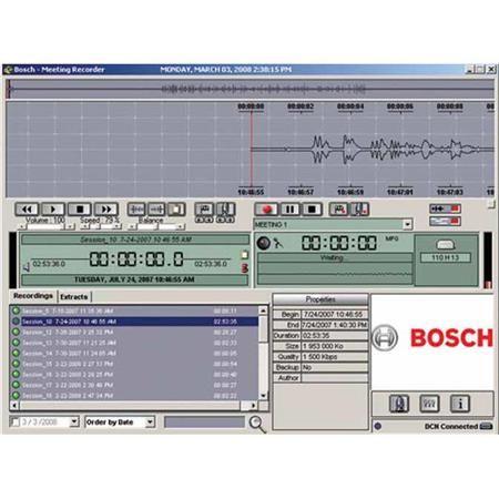 Bosch DCN-MRT Meeting recorder software - transcription module by Bosch
