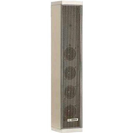 Bosch LA1-UM20E-1 Metal Column Loudspeakers, 20 W Power, 105/92 dB SPL, 240Hz-16kHz Frequency Range, 8/251/500 Ohms Rated Impedance, Single, White by Bosch