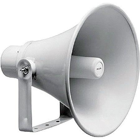 Bosch LBC 30W Circular Horn Loudspeaker, 20W Rated Power, 380Hz-5.5kHz Frequency Response, 500 Ohms Impedance, Light Gray by Bosch