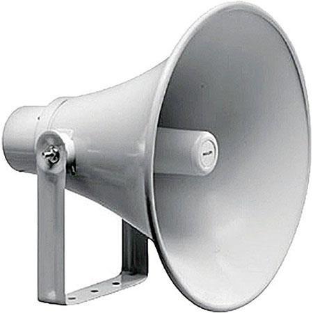 Bosch LBC 45W Circular Horn Loudspeaker, 30W Rated Power, 380Hz-5kHz Frequency Response, 333 Ohms Impedance, Light Gray by Bosch