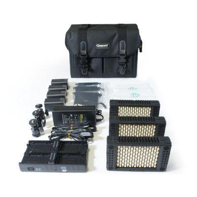 Cineroid LM200 On-Camera LED Light Kit (Set of 3) by Cineroid