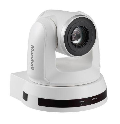 Marshall Electronics CV612HT-4KW 9MP UHD HDBaseT & HDMI PTZ Camera, White by Marshall Electronics