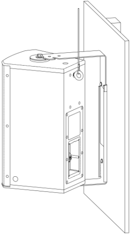"Electro-Voice EVC-UB1-BLK U-Bracket EVC 8"" black by Electro-Voice"