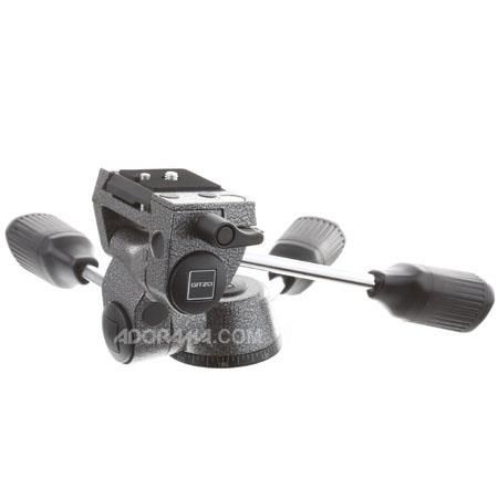 Gitzo G2272M Magnesium QR 3-way Low-Profile Rationelle Head with Square Quick Release Plate, for Series 2 Tripods by Gitzo
