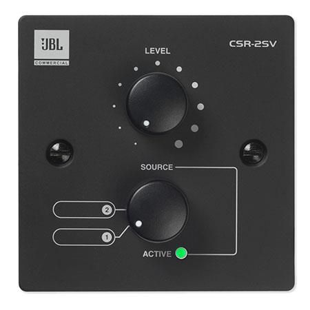 JBL CSR-2SV Wall Controller with Source and Volume Control,  USA Version,  Black by JBL