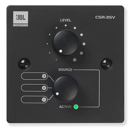 JBL CSR-3SV Wall Controller with Source and Volume Control,  USA Version,  Black by JBL