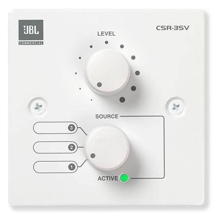 JBL CSR-3SV Wall Controller with Source and Volume Control,  USA Version,  White by JBL
