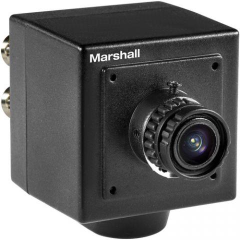 Marshall Electronics  CV502-M 2.5MP HD/3G-SDI Compact Progressive Camera with Interchangeable 3.7mm Lens (M12 Lens Mount, Power Pigtail) by Marshall Electronics
