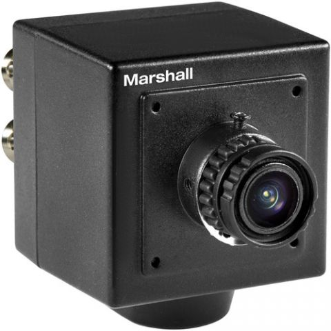 Marshall Electronics  CV502-MB 2.5MP HD/3G-SDI Compact Broadcast Compatible Camera with Interchangeable 3.7mm Lens (M12 Lens Mount, Power Pigtail) by Marshall Electronics