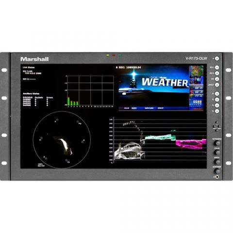 """Marshall Electronics  17.3"""" Rack Mount Dual Link/Waveform Monitor with In-Monitor Display by Marshall Electronics"""