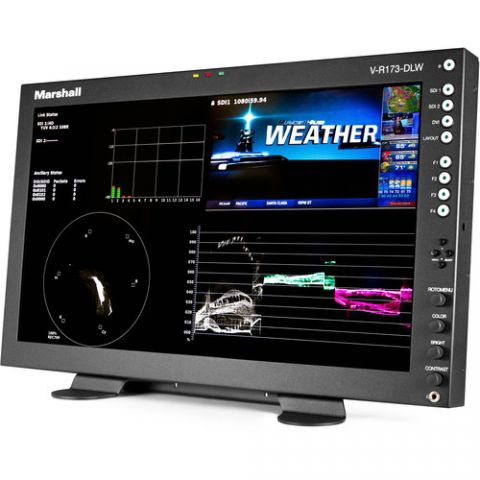 """Marshall Electronics  17.3"""" Desktop Mount Dual Link/Waveform Monitor with In-Monitor Display by Marshall Electronics"""