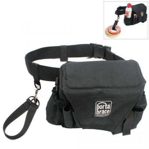 Porta Brace ACB-3B Assistant Camera Pouch with Belt (Large, Midnight Black) by Porta Brace