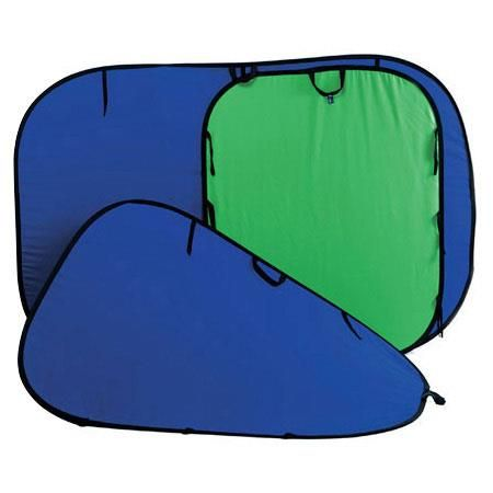 Lastolite 5x6' Chromakey Collapsible Disc Background, Blue / Green by Lastolite